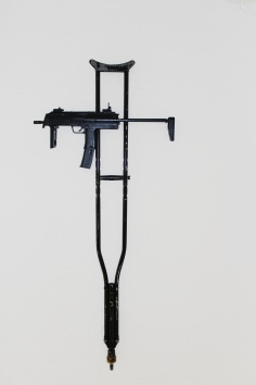 MARC THALBERG 'RE-LIGION', metal, synthetic, 135cm x 60cm x 4cm, 2011