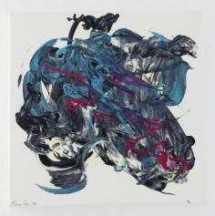 NORA GELLERT 'Verwundetes Herz', acryl on paper, 40cm x 40cm, 2010
