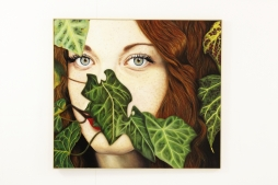 DONATELLA MARCATAJO 'The Secret Garden', oil on canvas, 90cm x 80cm, 2016