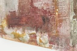 SOUSSEN 'Feuer', marble powder, pigments, tempera, acrylic on canvas, 60cm x 60cm, 2017