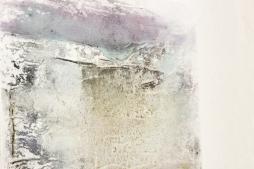 SOUSSEN 'Iceland', marble powder, lime putty, bone glue, pigments, chalk on canvas, 60cm x 60cm, 2017