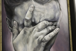 VANESSA LUSCHMANN 'Too much too bright too powerful', oil on canvas board, 40cm x 50cm, 2017