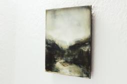 JOACHIM VAN DER VLUGT 'Midnight shout', oil on canvas, 40cm x 40cm, 2017