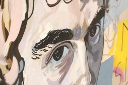 MANUELA ILLERA 'Chico mirando', acrylic on linen, 180cm x 120cm, 2017