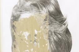 CATARINA MANTERO 'Mask II', graphite, acrylic and cellophane on paper, 42cm x 30cm, 2015