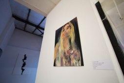 Leonardo Vargas, Study for Anna's portrait, 2018 Mixed media on dibond, 40 x 30 cm