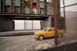 Jonas Anicas, Man at Work, 2017, Various materials, 100 x 70 x 55 cm