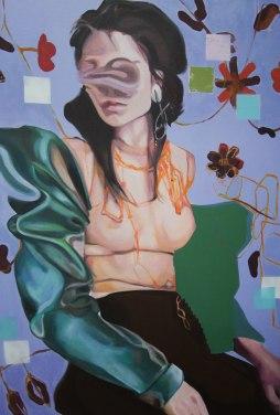 Nathalie Pirotte, Interralated, 2017, Oils on canvas, 100 x 69 cm