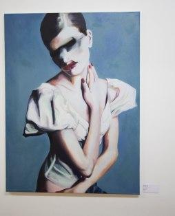 Nathalie Pirotte, The Angel, 2016, Oils on canvas, 100 x 75 cm